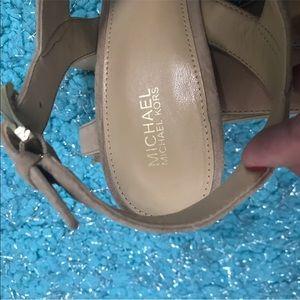 Michael Kors Shoes - Michael Kors Nude Heels 9 New